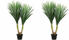 "43"" ARTIFICIAL PLANT IN OUTDOOR YUCCA PALM TREE TOPIARY PATIO DECK POOL POTTED 2"