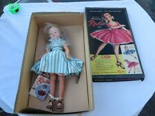 "Vintage Ideal 1950s Revlon Doll 20"" w Box VT-20 Blonde Hair Dress Tag Hang Tag"