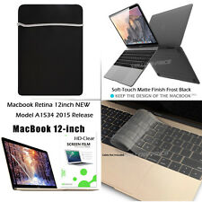 "4 in 1 The New Apple Macbook Matte Case,12"" inch Retina Display Laptop Computer"