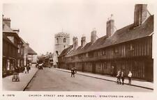 Church Street Grammar School Stratford on Avon unused RP pc WHS Kingsway