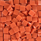 12mm Mosaic Glass Tiles - 4 Ounces About 90 Tiles - Cad Orange Color