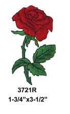 #3721 Red Rose Flower Embroidery Iron On Applique Patch