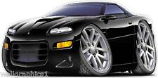 1998-03 Chevy Camaro SS Z-28 LS-2 Turbo Fire Cartoon Car Wall Graphic Decal