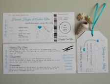 Handmade Boarding Pass/Ticket Wedding Invitation Destination Wedding x 25