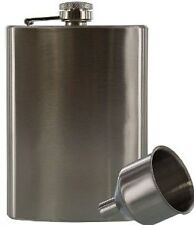 New  8oz Stainless Steel Hip Flask With Funnel * US FREE SHIPPING *