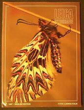 1987 LEICA MAGAZINE Vintage Photography BUTTERFLY MOTH Ludwig Kolm foto cover