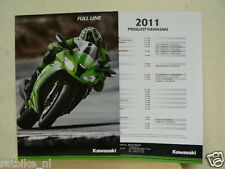 K045 BROCHURE KAWASAKI FULL LINE 2011 ALL MODELS, PROSPEKT,FOLDER
