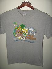 Salty Dog Kids Duathlon Race Run 2011 Melbourne Florida USA Grunge T Shirt Small