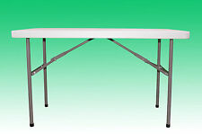 4FT COLLAPSIBLE PORTABLE POP UP TABLE FOLDING LEGS STALL EVENT CAR BOOT CATERING
