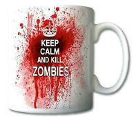 Keep Calm And Kill Zombies Mug Cup Novelty Gift Mugs