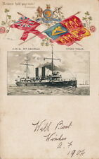 NAVAL : HMS ST GEORGE-embossed & undivided back-TUCK 'EMPIRE' 246