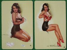 Earl MacPherson Pinup Girl Art Brunettes in Black Lingerie Playing Cards Vintage