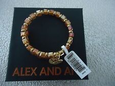 Alex and Ani GOLDEN DAYS WISH Rafaelian Gold Wrap Bangle New W/ Tag Card & Box
