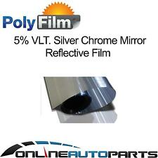 5% Silver Mirror Reflective Glass Window Solar Film 100cm x 10m Bulk Roll Tint