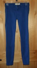 Hollister  Blue Colored  JEANS  size 1    JEGGINGS   STRETCHY   PRETTY!  LOT7068