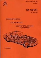 CITROEN SM shop manual Catalogue Book Manual Paper