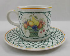 Villeroy & and Boch BASKET large coffee cup and saucer