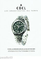 PUBLICITE ADVERTISING  046  1999  Ebel montre Etype