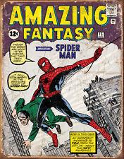 Spider Man Comic Cover Tin Sign Tin Sign - 12.5x16