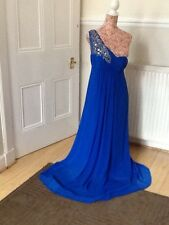 """monsoon silk one shoulder maxi  prom """"Dominica"""" dress size 12"""