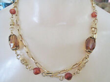 Sarah Coventry Gold Tone in Color Long  Necklace