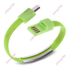 8 Pin Micro/USB Cable Bracelet Wristband Charger Charging Data Sync Cord Quality