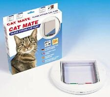 Cat Mate Cat Flap Glass Circular Catmate Pet Flap White 210