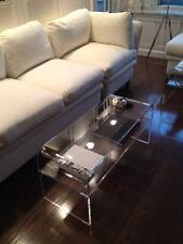 Acrylic Coffee Cocktail Table  Lucite with  SHELF for magazines etc