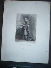 GRAVURE 1880 CARDINAL DE RICHELIEU