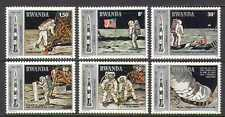 Rwanda 1980 Apollo 11/Space/Moon/Rocket 6v set (n22222)