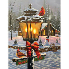 White Mountain Puzzles Christmas Perch 550 Piece Jigsaw Puzzle