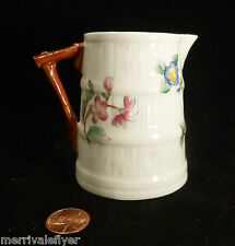 antique Victorian ROYAL WORCESTER PITCHER porcelain china PEONY England jug
