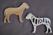 Pit Bull Pitbull Terrier  Wood Toy Dog Christmas Ornaments Gift Tag