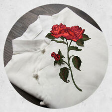 1 Pc Rose Blossom Flower Applique Clothing Embroidery Patch Fabric Sticker