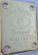 NECK PLATE Jack Daniel's - CUSTOM Shop - gold - pour Fender strat, tele, bass