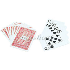 1* Waterproof Poker 100% Plastic New Red Washable Casin Games Size Playing Cards