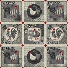 Poulets de Provence poulets 28 panneaux individuels 100% coton tissu de matelassage