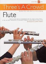 Three's A Crowd Junior Flute Learn to Play Beginner Trio Lesson Music Book B