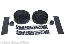 Handlebar Handle Bar Tape Black Carbon Fibre Pattern Self Adhesive ROAD BIKE