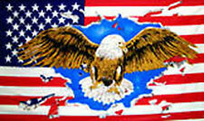 USA EAGLE FLAG 5' x 3' United States of America American Flags
