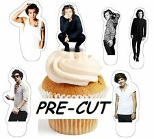 harry styles ID X24 edible stand up cup cake toppers wafer paper *pre-cut