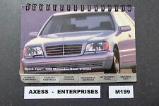 1998 Mercedes W140 S S430 S500 S600 Owners Manual Quick Reference Guide # M199 L