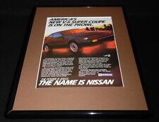 1987 Nissan 200SX V6 11x14 Framed ORIGINAL Vintage Advertisement B