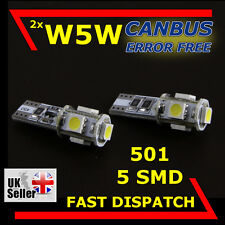 W5W T10 501 5 SMD LED SIDELIGHT INTERIOR CANBUS BULBS MERCEDES-BENZ VITO W639