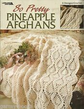 So Pretty Pineapple Afghans Anne Halliday Crochet Pattern Book Leisure Arts 3116