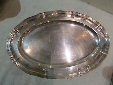 ancien plat ovale metal argenté poinconné gallia chantourné
