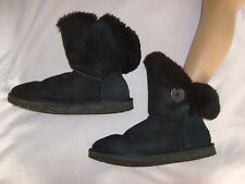 Ugg Australia UK 5.5  Sheepskin  Boots Black RRP £159.99