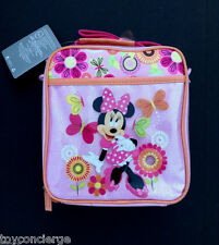 DISNEY Store LUNCH Tote MINNIE MOUSE CLUBHOUSE School PINK Lunch Box 2016 NWT