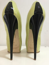 1969 Pumps 5cm platform17 cm Sexy Black gold peeptoe sky high heels 38 39