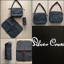 * SILVER CROSS 3D CHANGING BAG BLACK VERY TIDY BUT * NEEDS SEAM STITCHING *